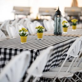 Upscale picnic for corporate gathering